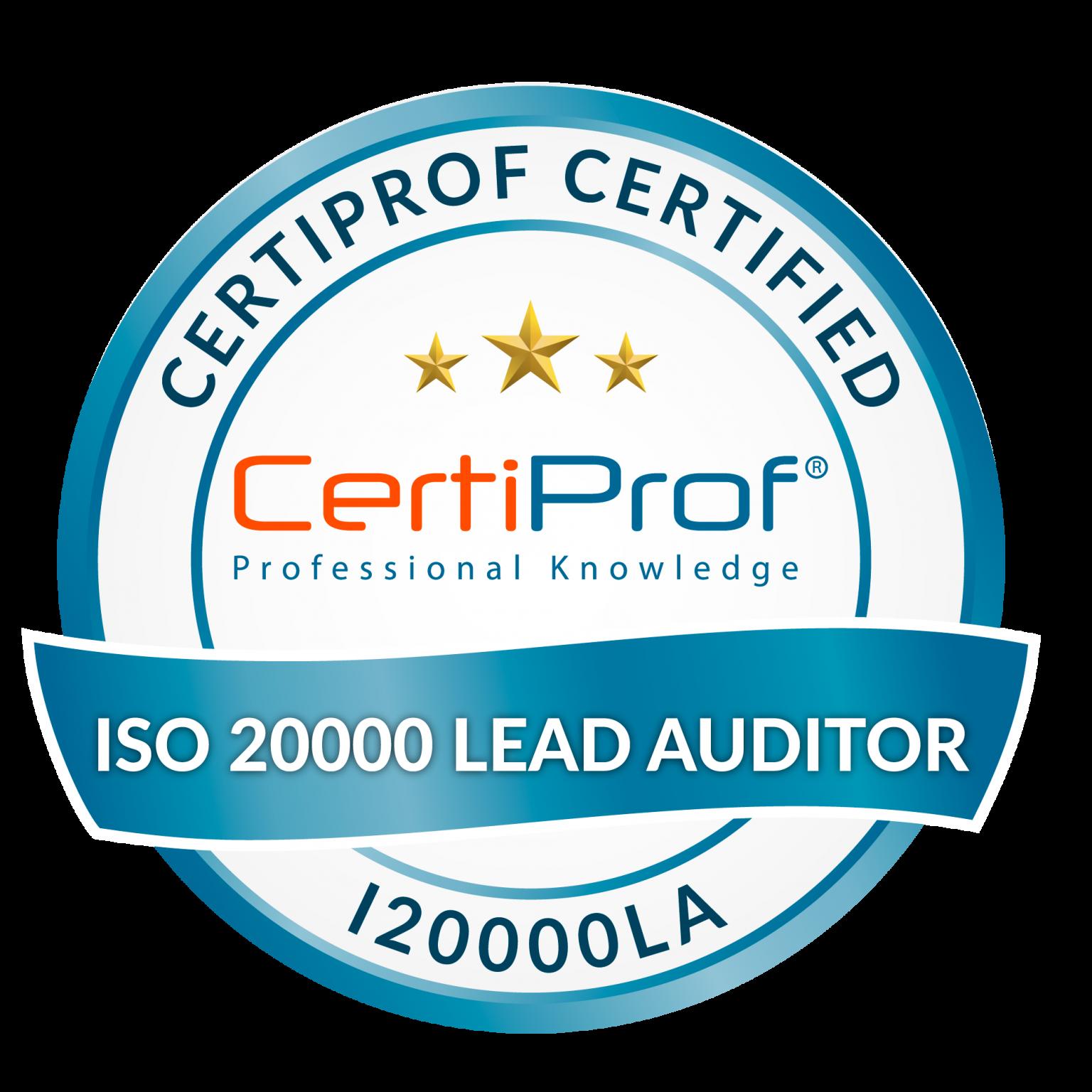 Curso de CertiProf Certification ISO/IEC 20000 Auditor/Lead Auditor (I20000A/LA)